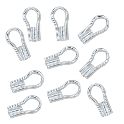 20 Silver OR Gold Plated EZ Crimp Ends with Ring 3.5mm Finishing