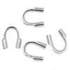 Silver Plated Wire & Thread Protectors .024 Inch Loops (50)