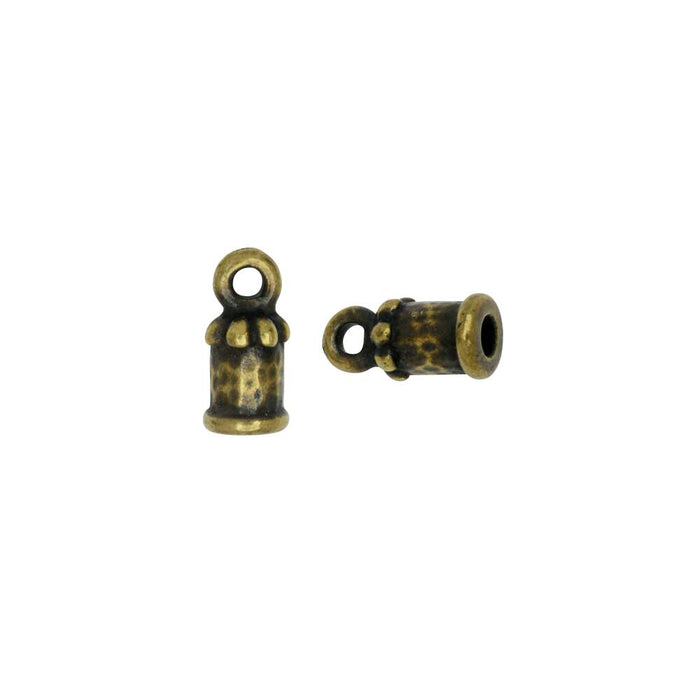 Cord End, Palace Dome 10.5mm, Fits 2mm Cord, Brass Oxide Finish, 2 Pieces, By TierraCast
