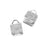 Cord Ends, Ribbon Pinch Crimps with Woven Texture 5x5mm, 10 Pieces, Silver Plated
