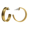 Nunn Design Channel Earring Finding, 28.5mm Hoop, 1 Pair, Antiqued Gold