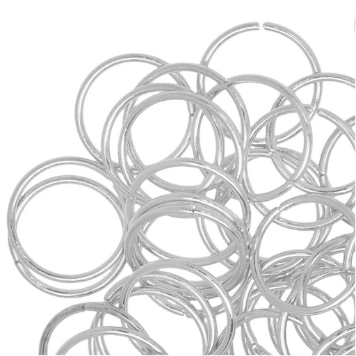 Jump Rings, Open 10mm Diameter 20 Gauge, 100 Pieces, Silver Plated