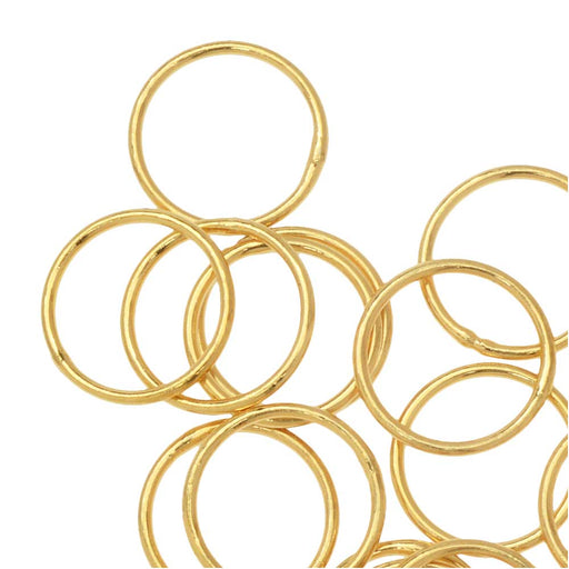 Jump Rings, Closed 10mm Diameter 20 Gauge, 20 Pieces, Gold Plated