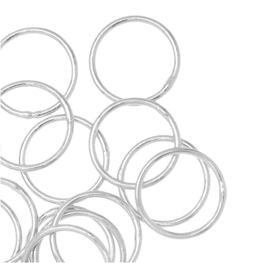 Jump Rings, Closed 10mm Diameter 20 Gauge, 20 Pieces, Silver Plated