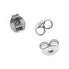 Earring Backs, Earnuts with Medium Clutch 5.5mm, 50 Pairs, Surgical Steel