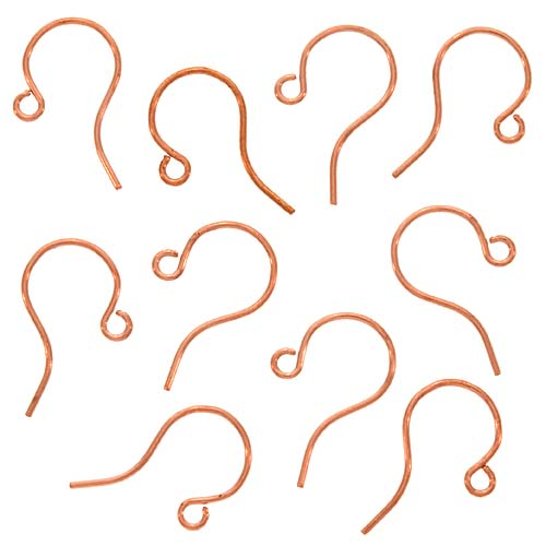 Genuine Copper Sleek Small Earring Hooks - Qty 50 (25 Pairs)