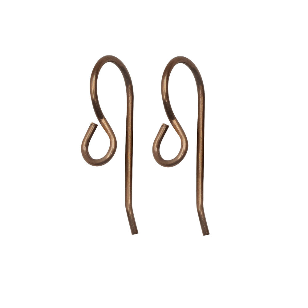 Vintaj Natural Brass, Modern French Ear Wire 20x8.5mm, 6 Pieces