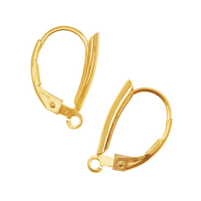14KT Gold Filled Earrings Leverbacks with Teardrop Motif (1 Pair)