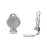 Silver Plated Clip On Earring Findings W/ 15mm Pad For Gluing (3 Pairs)