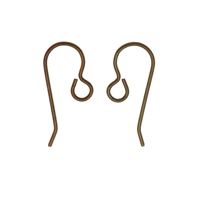 Vintaj Natural Brass Classic French Ear Wire 20mm (2 Pair)