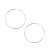 Silver Plated Beading Hoop Earrings 3/4 Inch (20)