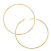 22K Gold Plated Beading Hoop Earrings 1 1/4 Inch (20)