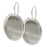 Silver Plated Oval Bezel Earring Findings - 18x13mm (1 Pair)