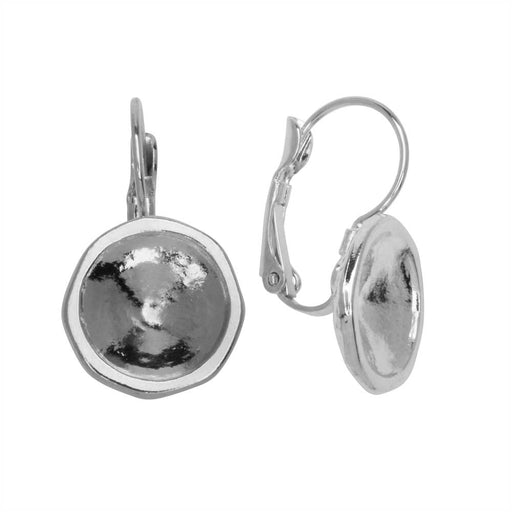 10 Silver Nickel Free Titanium French Hook Earring Findings with Open Loop Ring