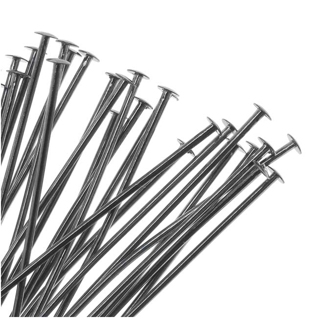 Gun Metal Head Pins - 22 Gauge 3 Inches (25)