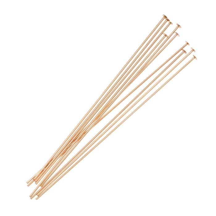 14K Gold Filled Head pins 24 Ga./2 Inches (X10)