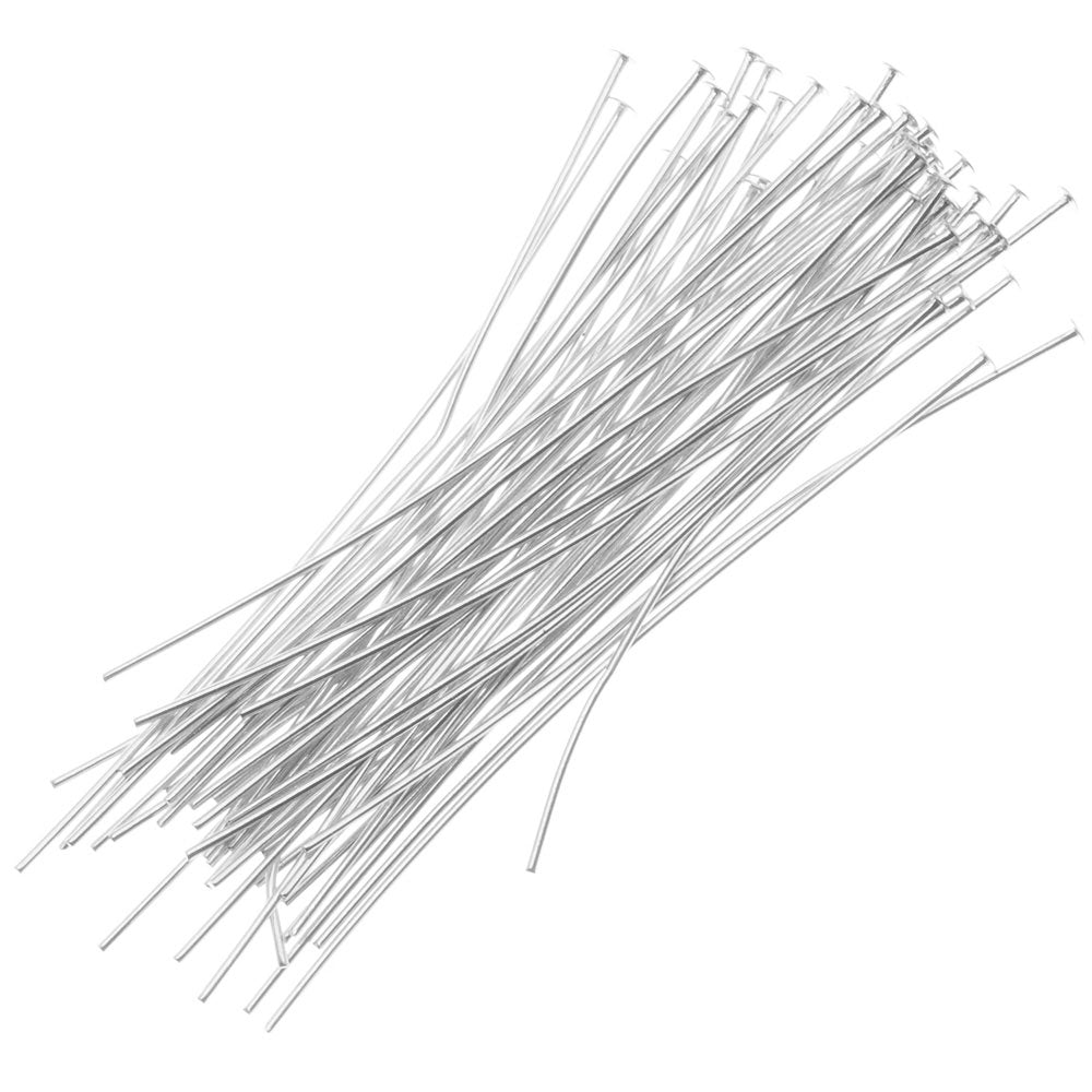 Silver Plated Head Pins 2 Inches/21 Gauge (X50) — Beadaholique