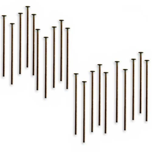 Vintaj Natural Brass Head Pins 21 Gauge 1 Inch (20)