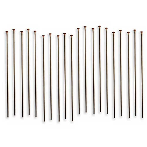 Vintaj Natural Brass Fine Head Pins 24 Gauge 1.5 Inch (20)