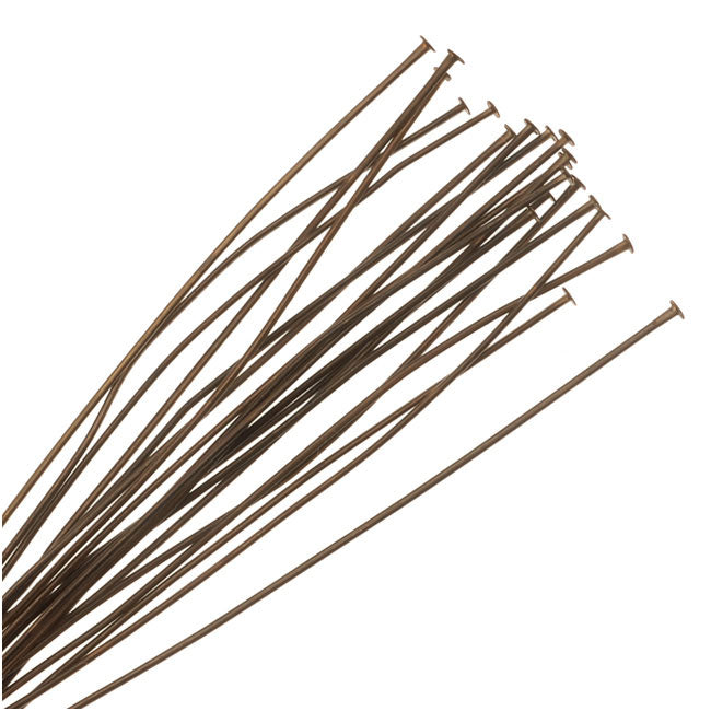 Vintaj Natural Brass Fine Head Pins For Pearls 24 Gauge 2.5 Inch (20)