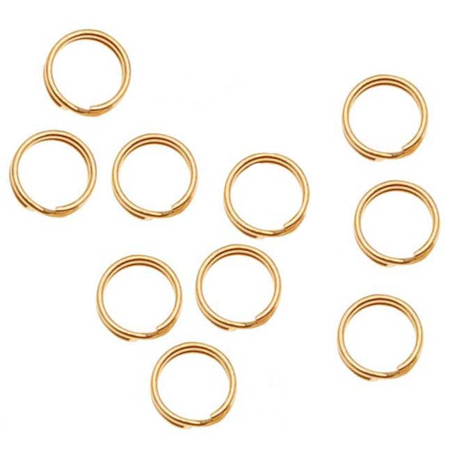 14K Gold Filled Split Rings 4.5mm (10)