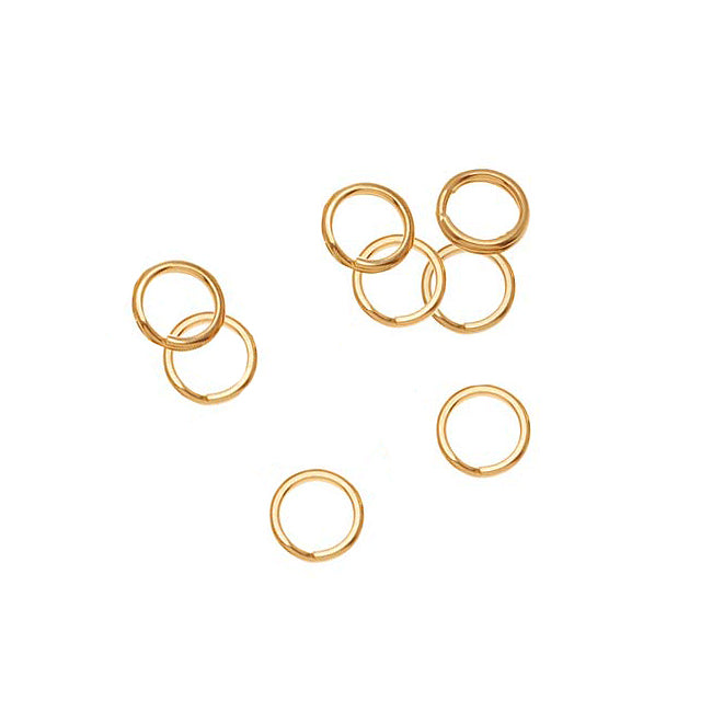 14K Gold Filled Split Rings 6mm (8)
