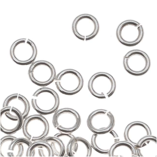 Sterling Silver Open Jump Rings 3mm 22 Gauge (20)