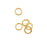 14K Gold Filled Open Jump Rings 4mm 21 Gauge (10)