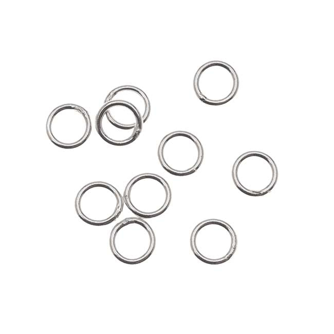 Sterling Silver Closed Jump Rings 5mm 20 Gauge (10)