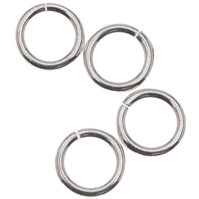 /& Cadmium free Jewelry Finding 61 Nickel 6mm Jump Rings : 100 pieces Antique Silver Open Jump Rings 6mm x 1mm -- Lead 19 Gauge