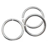 Sterling Silver Open Jump Rings 8mm 18 Gauge Heavy (10)