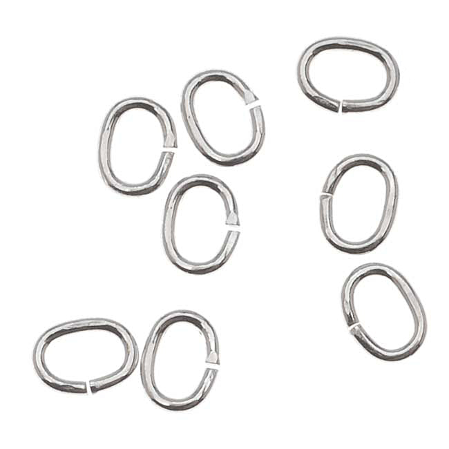 Sterling Silver Open Jump Rings Oval 4x3mm 22 Gauge (20)
