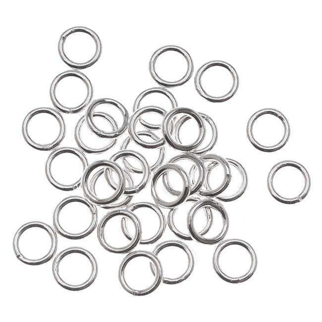 Sterling Silver Closed Jump Rings 5mm 19 Gauge (20)