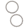 Sterling Silver Closed Jump Rings Twisted 8mm 20 Gauge (10)