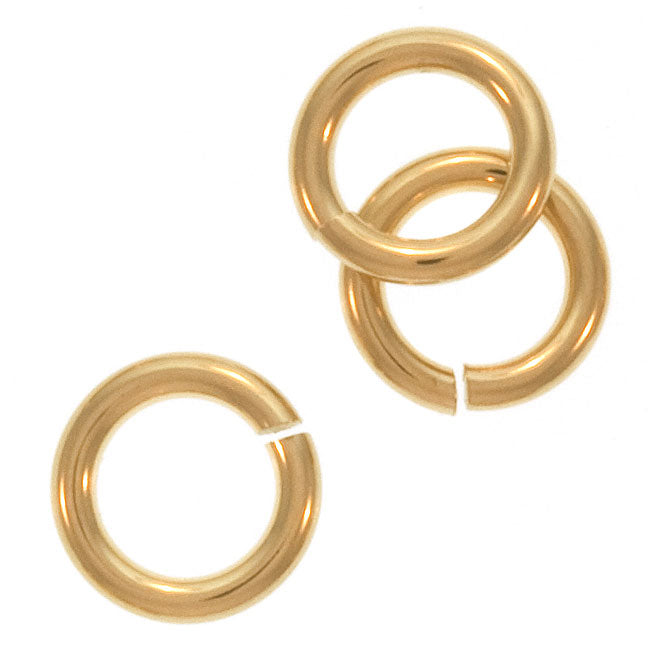JUMPLOCK Jump Rings, Round 6mm 18 Gauge, 6 Pieces, Gold Filled