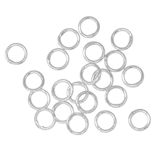 Jump Rings, Closed 4mm Diameter 22 Gauge, 20 Pieces, Silver Plated