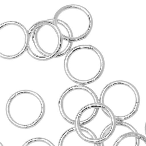 Jump Rings, Closed 8mm Diameter 20 Gauge, 20 Pieces, Silver Plated