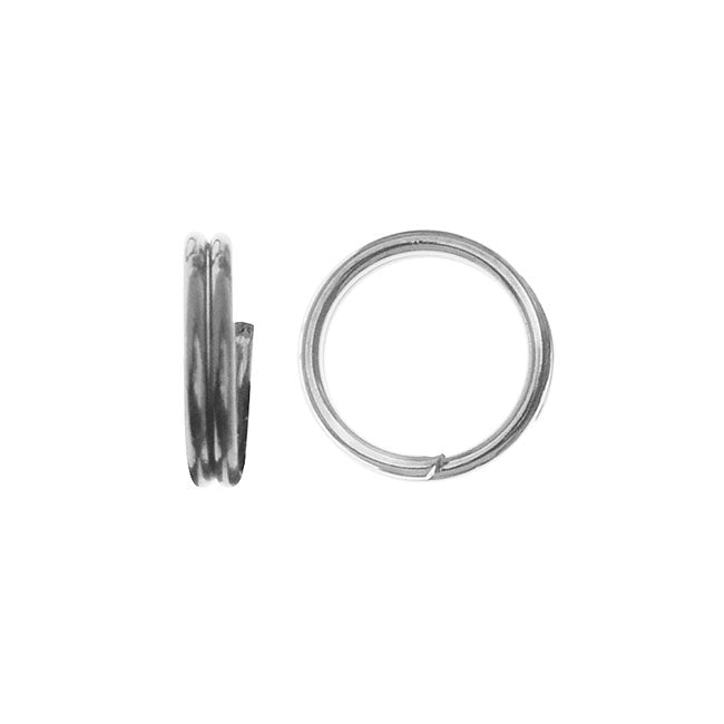 Split Rings, 5mm Diameter 24 Gauge Wire, 50 Pieces, Silver Plated