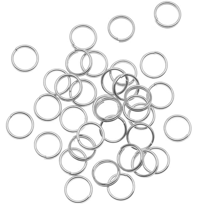 Silver Plated Split Rings 6mm (x100)
