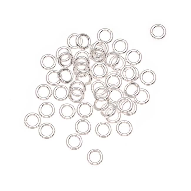 Sterling Silver Open Jump Rings 4mm 19 Gauge Heavy (x25)