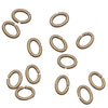 Antiqued Brass Open Jump Rings Oval 3x4mm 21 Gauge x100