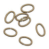 Antiqued Brass Open Jump Rings Oval 4x6mm 20 Gauge x50
