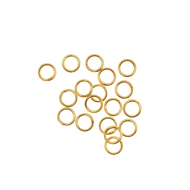 Antiqued Brass Split rings 6mm (50)