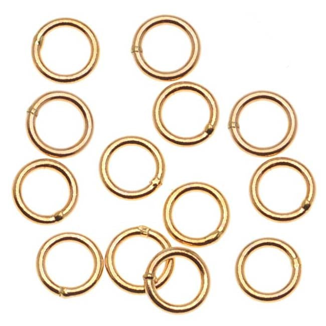 14K Gold Filled Closed Jump Rings 5mm 20 Gauge (x10)
