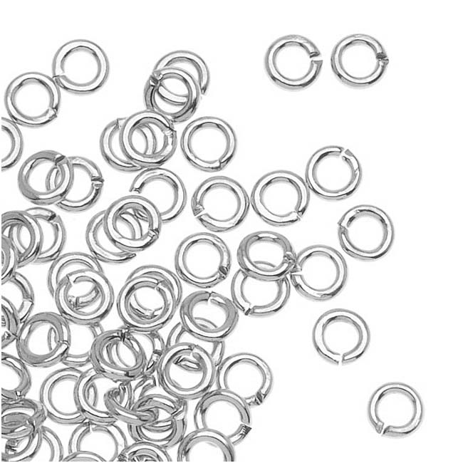 Silver Plated Open Jump Rings 3mm (x100)