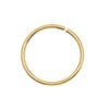 22K Gold Plated Open Jump Rings 10mm 18 Gauge (50)