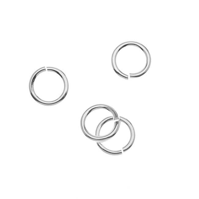 JUMPLOCK Jump Rings, Round 10mm 14 Gauge, 4 Pieces, Sterling Silver