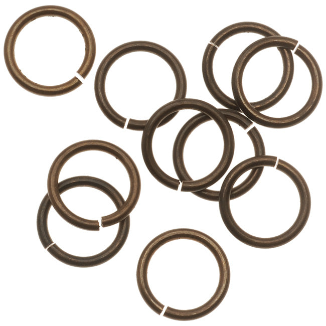 Vintaj Natural Brass Jump Rings 10mm Heavy 15 Gauge (10)