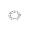 TierraCast Silver Plated Brass Oval Jump Rings 4mm 20 Gauge (50)