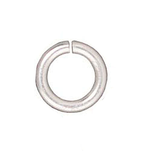 TierraCast Fine Silver Plated Brass Open Jump Rings 7.7mm 16 Gauge (25)